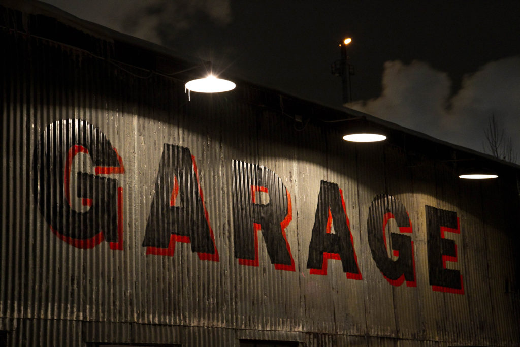 Garage Sign Metal 1920
