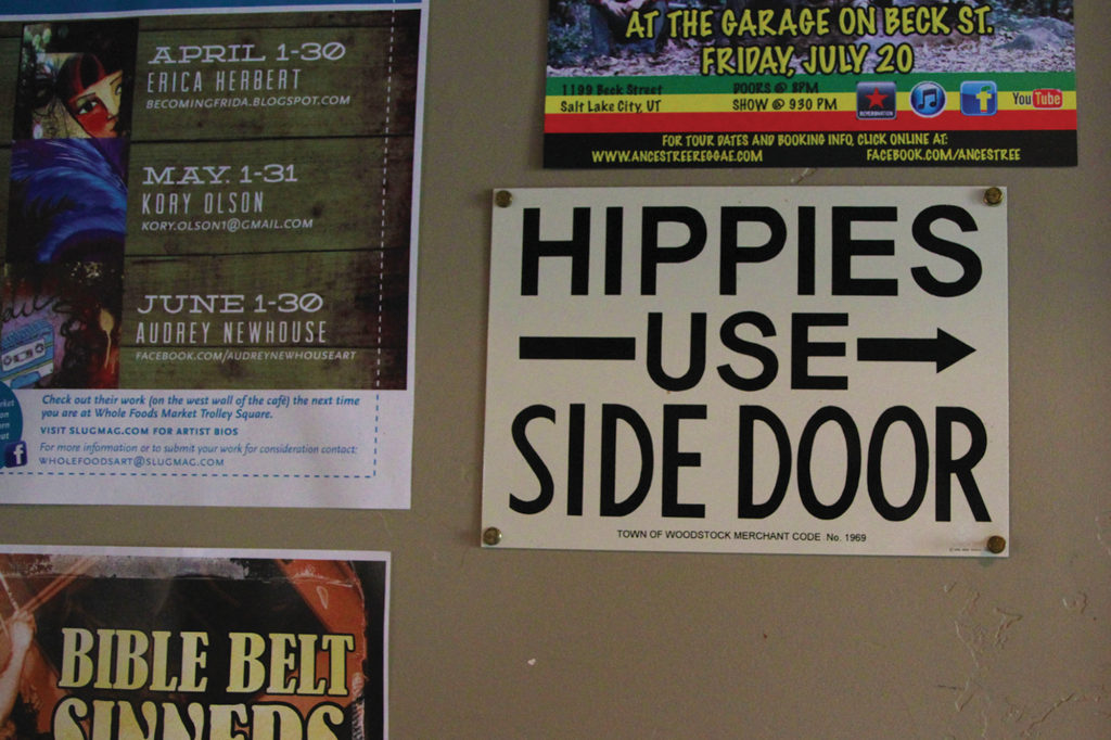 Hippies Sign